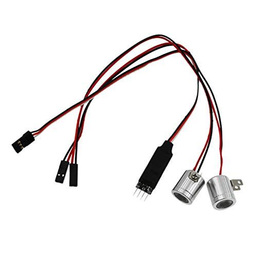 freneci 3 Canales RC Interruptor de Control de luz led proyector luz Principal Reflector para 1:10 1:8 RC Car DIY Accesorios