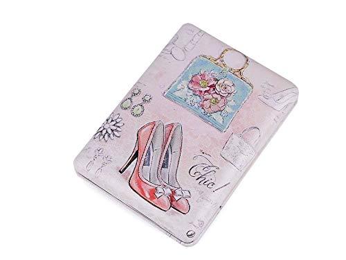 1pc Rose Pâle Cosmétique Miroir de Poche de la Mode, de Miroirs Et Armoires de Bijoux, d'Accessoires, de 3 de couleur rose pâle