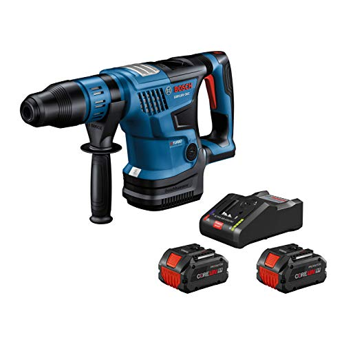 Bosch PROFACTOR 18V HITMAN GBH18V-36CK24 Cordless SDS-max 1-9/16 In. Rotary Hammer Kit with BiTurbo Brushless Technology, Includes (2) CORE18V 8.0 Ah PROFACTOR Performance Batteries