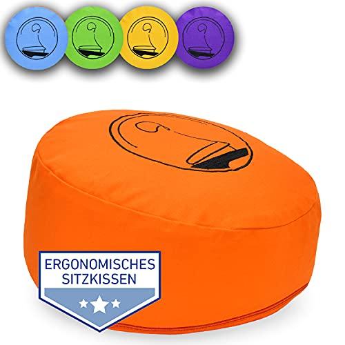 KlarGeist® Cuscino ergonomico per meditazione e yoga, colore: arancione
