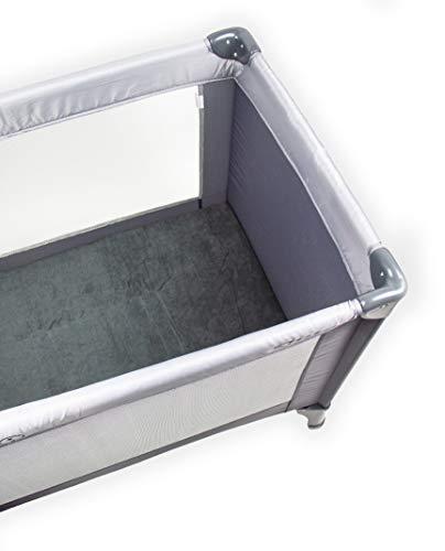 Briljant baby - hoeslaken voor luchtbed, campingbed, reisbed - 60 x 120 cm antraciet - 100% frotte hoogwaardige kwaliteit