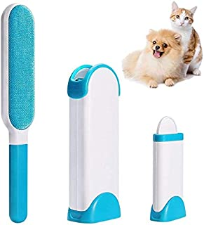 PIONEERS Pet Hair Remover, Fur and Lint Remover with Reusable Self-Cleaning Double Sided Brush Excellent for Dog and Cat, ...