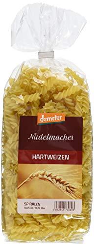 Demeter Nudelmacher Hartweizen Spiralen, 4er Pack (4 x 500 g)