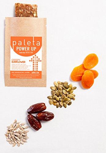 PALETA POWER UP Hand-Crafted Energy Bars Crispy Sunflower 10 Pack