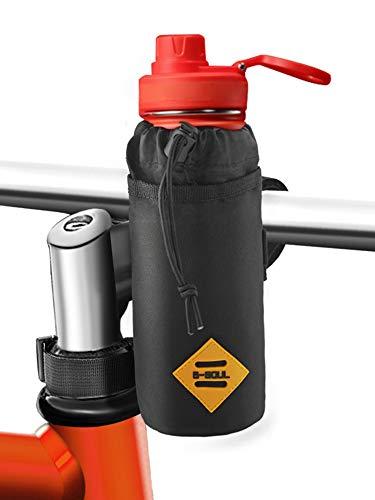 Cocoda Flaschenhalter Fahrrad, Leichter Getränkehalter Kinderwagen Fahrrad mit Stabil Dreieckigen Fahrradrahmen & Lenkerbefestigung-Design, Isolierte Fahrradtasche Lenker für Getränke, Essen, Snack