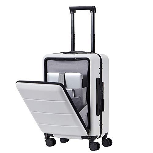 Rolling Bag Laptop Computer Case met Wielen Mannen en Vrouwen Zakelijke Reizen Open Box Bagage Trolley Case Universele Wiel Vliegtuigen Boarding