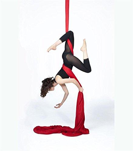 10 Meter Premium Aerial Silks DIY Equipment Aerial Yoga Hammock Safe Deluxe Aerial Kit...