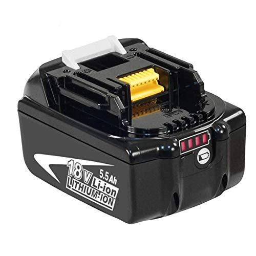 Boetpcr BL1860B Ersatz für Makita 18V Lithium Akku BL1860B BL1860 BL1850B BL1850 BL1840B BL1840 BL1830B BL1830 BL1820 BL1815 BL1845 194204-5 LXT400 Werkzeugbatterien mit Indikator