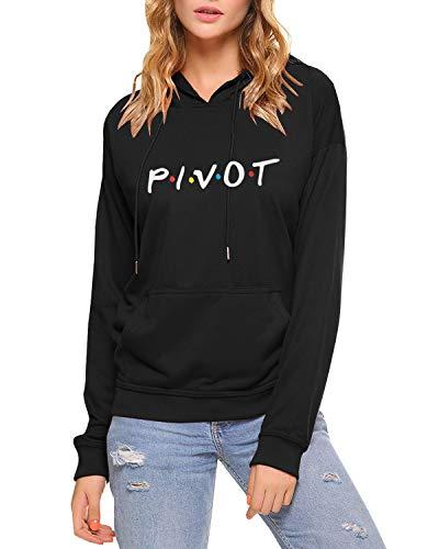 Womens Teen Girls Pivot Funny Cute Graphic Hoodies Fall Winter Fleece Pullover Sweatshirts Tops