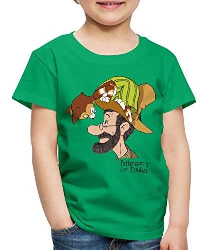 Pettersson Und Findus Unterhalten Sich Kinder Premium T-Shirt, 98-104, Kelly Green