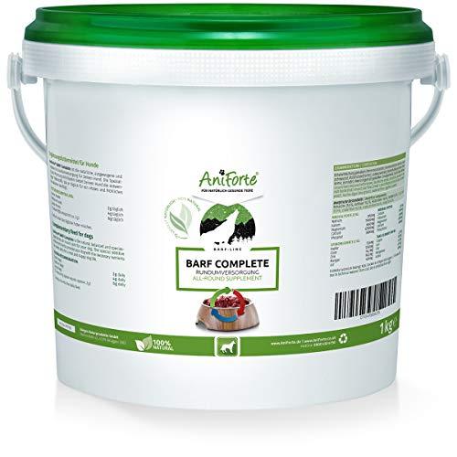 AniForte Barf Complete Pulver für Hunde 1kg - 100% Natur Rundumversorgung - Natürlich, Artgerecht und Ausgewogen, Hochwertiger Zusatz beim Barfen, Reich an Mineralstoffen, Vitalität und Wohlbefinden