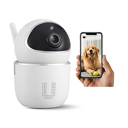 1080 HD Smart Indoor Wireless WiFi Home Security Camera, Dual-Way Talking, Night Vision, Rotation/tilt System to Track Moving Objects, use for Pets Babies Nanny and Office Surveillance