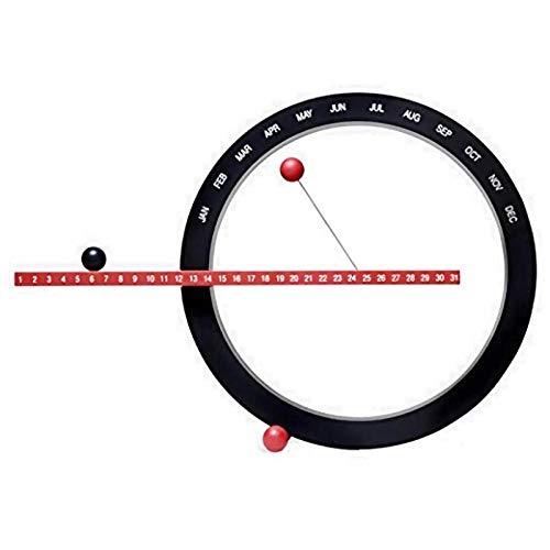 LIXIAN Bola magnética Reloj de Pared Calendario de Pared perpetuo Novedad Decoración para el hogar Estilo Europeo Sala de Estar Dormitorio Adornos-Negro