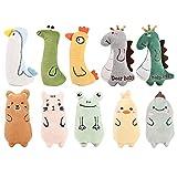 YIIFELL Spielzeug mit Katzenminze,10 Stück Katzenspielzeug mit Katzenminze,Katzenspielzeug Set aus Katzenkissen mit Katzenminze, Interaktives Kauspielzeug Katzenminze,Katzenminzenspielzeug für Katzen