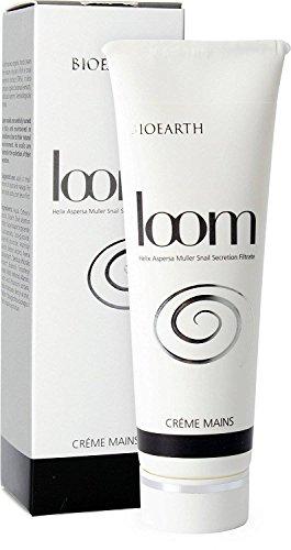 BIOEARTH - Crème pour les Mains Loom - Renouvelle le Tissu avec Extrait d'Escargot - Testé sous Contrôle Dermatologique - Sans Parfum - Réduit les rougeurs - 50 ml