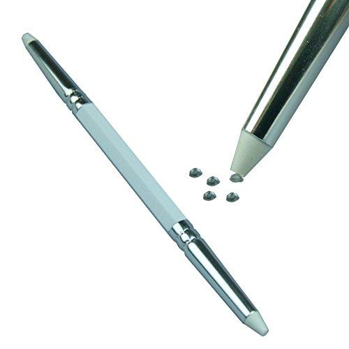 GS-Nails Picker Upper Weiß + 50 Strasssteine, NailArt Strassapplikator Werkzeug Tool …