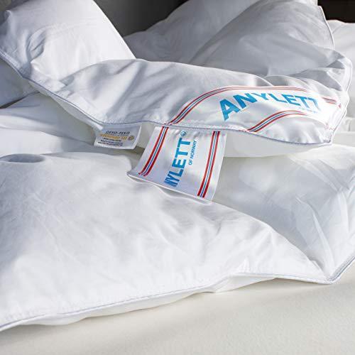 Arctic Ganzjahres-Bettdecke Pavo - Warme Steppdecke mit Hohlfaserfüllung - für Allergiker geeignet, Bezug aus 100{05f54d3b8eab6cba60a2735685c822296c3a27a3007773f17118b12503e1c67a} Baumwolle, Oeko-TEX Standard 100, Weiß - 135 x 200 cm