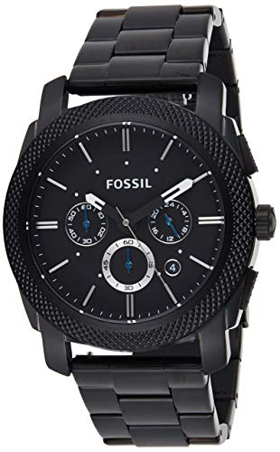 Fossil Men's Machine Chrono Quartz Stainless Chronograph Watch, Color: Black (Model: FS4552IE)