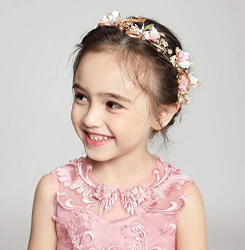2019 Nieuwe Kinderen Haaraccessoires Meisje Hoofdtooi Prinses Hoofdband Koreaanse Bloemen Hoofd Bloem Verjaardag Prestaties Accessoires Roze