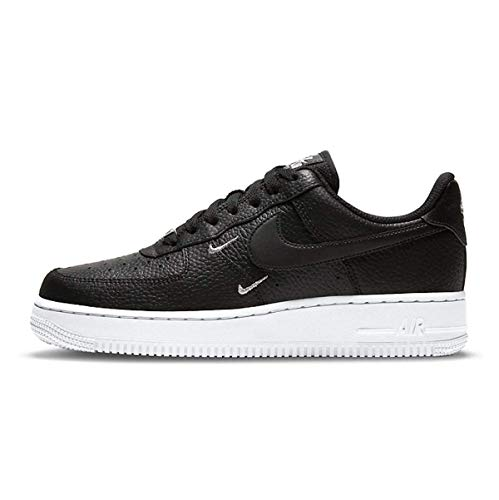 Nike Damen WMNS AIR Force 1 '07 ESS Basketballschuh, Black Black MTLC Silver White, 38 EU