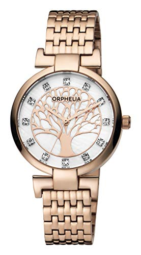 Orphelia Damen-Armbanduhr Lignum Analog Quarz Edelstahl