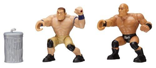 WWE – Power Slammers – John Cena & The Rock – 2 Figurines Mécanique