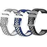RuenTech Correa compatible con ID205L SW020-BK-U1 020 022 023 Fitness Tracker pulsera de repuesto de silicona deportiva pulsera de deporte pulsera de mujer hombre (3-B color)