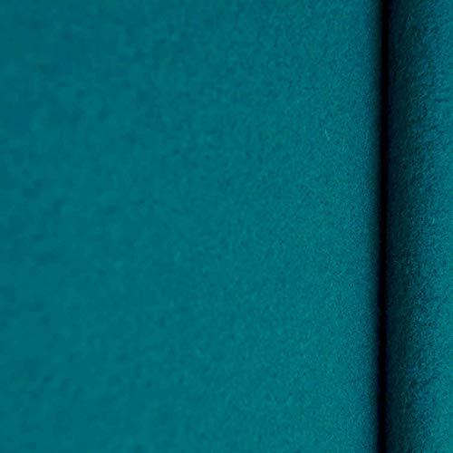 (16,99€/m) Gaby - Kaschmir Wolle Mantel Wollstoff Meterware 20 Farben Stoff (petrol)