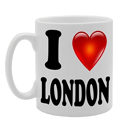 MG1038 I Love London Novelty Gift Printed Tea Coffee...