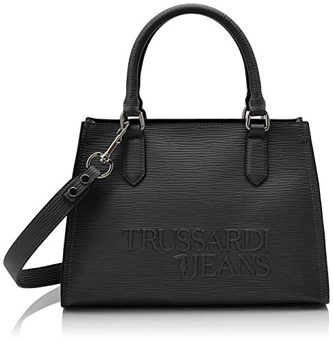 Trussardi Jeans T-Tote High Frequency, Borsa Donna, Nero...