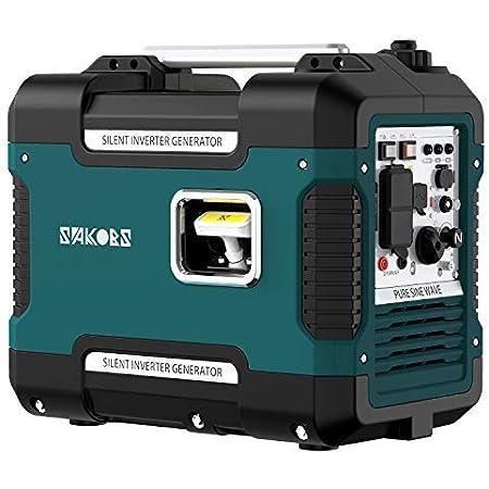 インバーター発電機 防音型 SAKOBS 正弦波 ガソリン発電機 最大出力1.88Kw 定格1.7KVA 50Hz/60Hz切替 並列運転機能 過負荷保護 地震 停電 アウトドアに適用 日本語取扱説明書付き