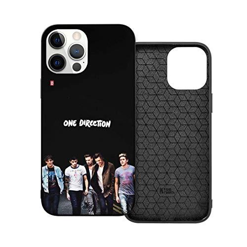 hotrilicoc Compatible con iPhone 12/12 Pro MAX 12 Mini 11 Pro MAX SE X/XS MAX XR 8 7 6 6s Plus Funda One-Direction Negro Cajas del Teléfono Cover ⭐