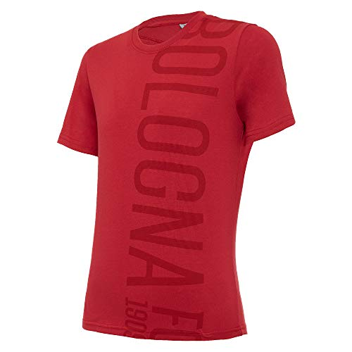 Macron Bfc Merch Ca Camiseta Tifoso Jersey Cottonpoly Ros Jr, Algodón para Niño, Rojo, Bologna FC 2020/21 Niño, Rojo, JL
