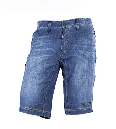 Jeanstrack Heras Jeans Pantalon Corto de Mountain Bike, Unisex Adulto, Dirty, XL