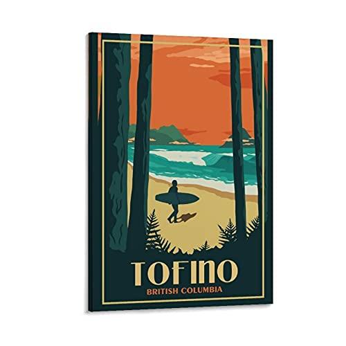AIPINGLLI Pinterest Tofino BC Vintage-Reiseposter, Leinwand-Kunst-Poster und Wandkunstdruck, modernes Familienschlafzimmer, 60 x 90 cm