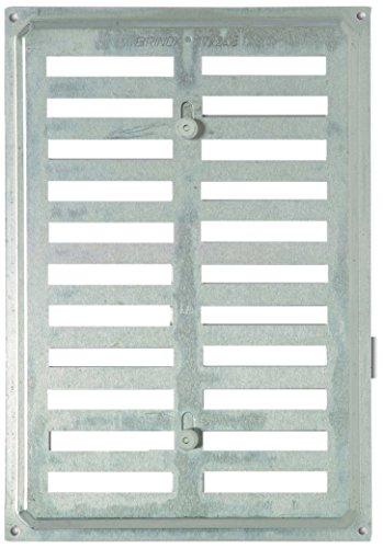 Brinox b70390a–Griglia Di Ventilazione A persiana in alluminio, 24,5x 17cm, colore: argento