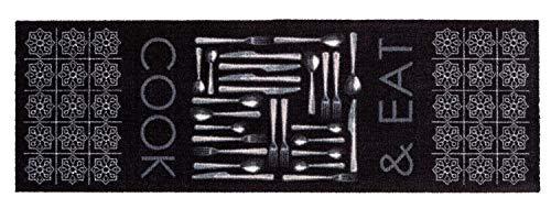 ASTRA Küchenmatte schwarz Küchenteppich Teppichläufer Küche Läufer Teppich Küchenläufer Wohnraummatte
