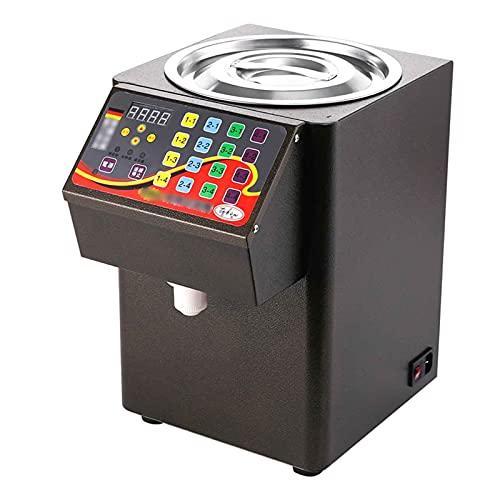 TreeSouth 8L Dispensador De Fructosa Automático Máquina 16 Rejillas Salida De Azúcar Desmontable Equipo Especial para Tienda De Té con Leche 26x26x42cm