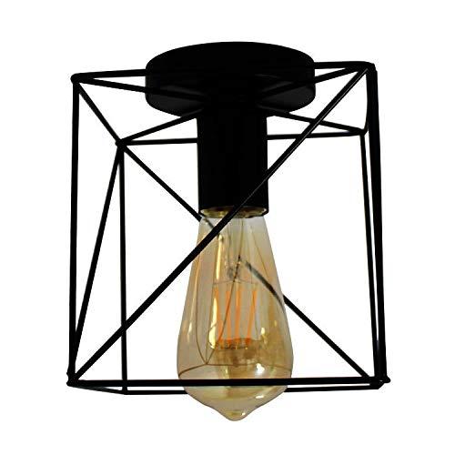 Qyyru Luz Plaza Industrial Retro Montaje al RAS del Accesorio del Techo Bronce aceitado del Accesorio de iluminación Semi-Montaje al RAS E27 lámpara de Techo Negro Punk Industrial lámparas Pendientes