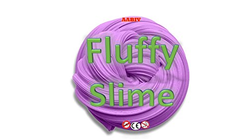 AABIV Fluffy Slime Jumbo Floam Slime Soft Rubber Non Sticky Stretchy Slime, Stress Relief Putty Toy for Kids & Adults - Purple