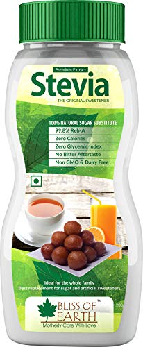 Bliss of Earth 99.8% REB-A Purity Stevia Powder, Natural & Sugarfree, Zero Calorie Keto Sweetener, 200GM