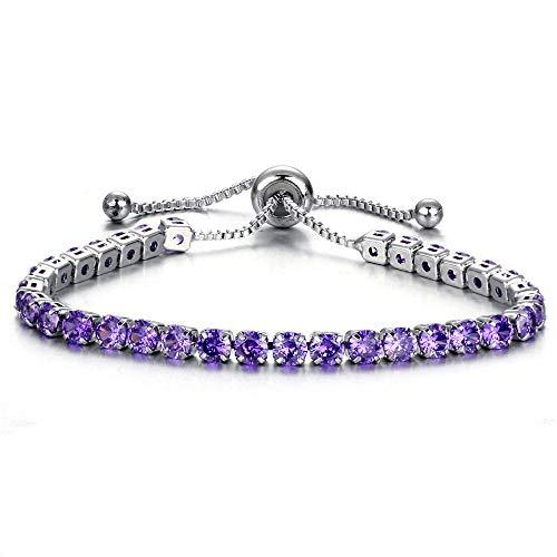 Fashion Cubic Zirconia Adjustable Bracelet and Bangle for Women Wedding Jewelry Adjustable Full Drill Single Row Bracelet, Decorative Pitchers |
