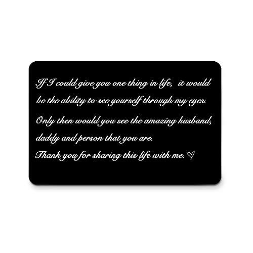 Vatertagsgeschenk, graviert, personalisierbar, mit Namen- und Datumsanzeige, für Vatertag, Ehemann, Freund, Geschenk, Mini-Glückwunschkarte Share the Life