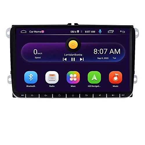 Reproductor multimedia para automóvil Android 10 OS Car Radio Stereo con pantalla táctil de 10.1 pulgadas, para Volkswagen Skoda Seat, soporte para navegación GPS, control del volante, WIFI y 4G USB,