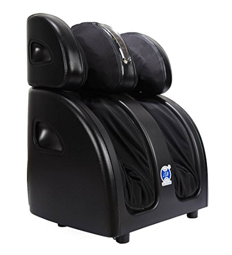 JSB HF60 Shiatsu Leg Foot Massager Machine for Calf Pain Relief with Heat (Black)
