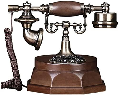 CJDM Teléfono con Cable Estilo Americano Teléfono Retro Madera Maciza Estilo Europeo Estilo Pastoral Teléfono Fijo Teléfono Fijo 25 * 21 * 19 cm Teléfono inalámbrico