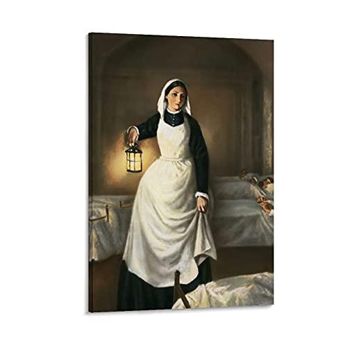 Florens näktergal lykta gudinna kanvas konst affisch och väggkonst bild tryck modern familj sovrum dekor affischer 20x30 cm (08x12 tum)