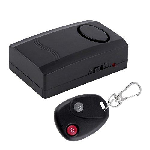 振動感知式防犯アラーム 120dBの大音量 リモコン付 窓やドアの防犯用 バイクの盗難防止などに FMTALM87