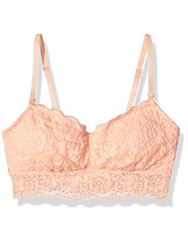 Amazon Brand - Arabella Women's Classic Lace Nursing Bralette, Tropical Peach, X-Small