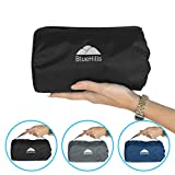 BlueHills Ultra Compact Travel Blanket Pillow in Portable Bag Case with...